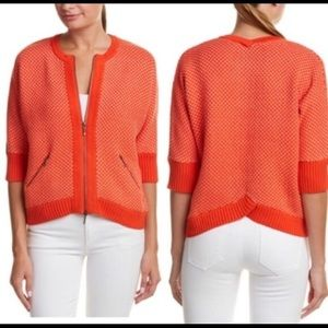 Cabi Knit Cocoon Cropped Cardigan Sweater Zipper